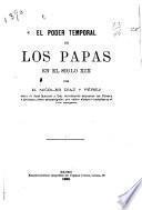 El poder temporal de los papas en el siglo xix