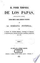 El poder temporal de los Papas, justificado por la Historia