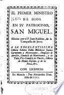 El primer ministro de Dios en su patrocinio, San Miguel