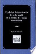El principio de determinación del hecho punible en la doctrina del Tribunal Constitucional