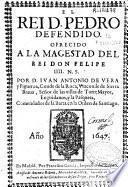 El rei D. Pedro defendido ...