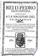 El rei d. Pedro defendido