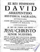 El Rey penitente David arrepentido