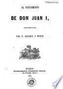 El testamento de Don Juan I