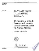El Tratado de Guadalupe Hidalgo