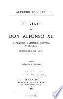 El viaje de Don Alfonso XII á Francia, Alemania, Austria y Bélgica