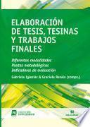 Elaboración de tesis, tesinas y trabajos finales