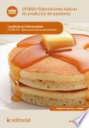 Elaboraciones básicas de productos de pastelería. HOTR0109