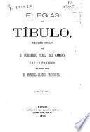 Elegías de Tíbulo