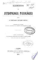 Elementos de antropología psicológica