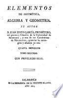Elementos de arithmética, algebra y geometria