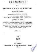 Elementos de aritmética numérica y literal al estilo de comercio para instruccion de la juventud
