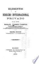 Elementos de derecho internacional privado
