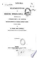 Elementos de derecho internacional público: 1866 ( VII, 734 p.)