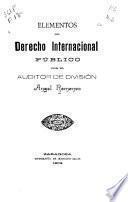 Elementos de derecho internacional público