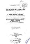 Elementos de derecho mercantil de España