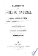 Elementos de Derecho natural