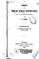 Elementos de derecho público constitucional