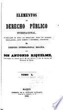 Elementos de derecho público internacional