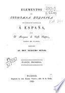 Elementos de economía política con aplicación particular a España