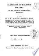 Elementos de farmacia fundados en los principios de la química moderna