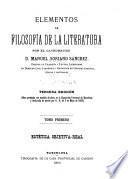 Elementos de filosofia de la literatura