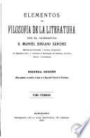 Elementos de filosofía de la literatura