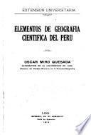 Elementos de geografía científica del Perú