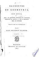 Elementos de geometria, con notas