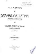 Elementos de gramática latina (histórico-comparativa)