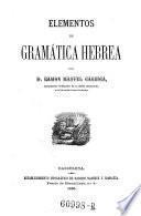 Elementos de grammatica hebrae