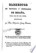 Elementos de historia y cronologia de España