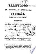 Elementos de Historia y Cronologia de España, para uso de los niños