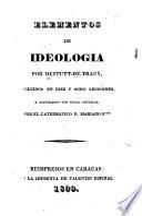 Elementos de ideologia ...