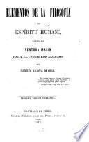 Elementos de la filosofia del espiritu humano