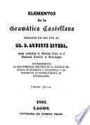 Elementos de la gramática castellana