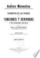 Elementos de las teorías de funciones y derivadas y sus aplicaciones analíticas