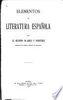 Elementos de literatura española