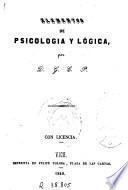 Elementos de psicologia y lógica