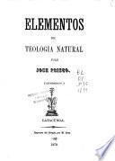 Elementos de teología natural