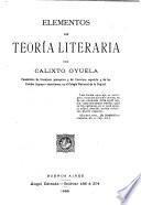 Elementos de teoría literaria