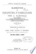 Elementos de terapéutica y farmacología