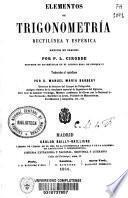 Elementos de trigonometría rectilínea y esférica