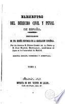 Elementos del derecho civil y penal de España, 1
