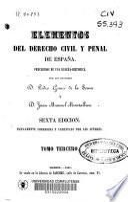 Elementos del derecho civil y penal de España