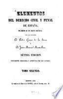 Elementos del derecho civil y pènal de España