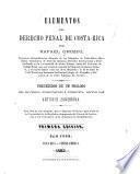 Elementos del derecho penal de Costa-Rica