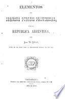 Elementos del derecho público provincial para la República arjentina