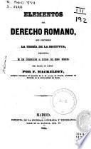 Elementos del derecho romano