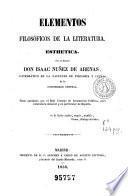 Elementos filosóficos de la literatura